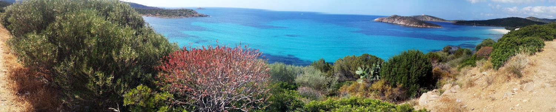 Tuerredda. panoramica di Chia Capo Spartivento
