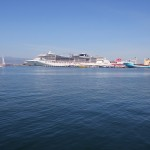 Panoramica Nave in attracco al molo Ichnusa Cagliari