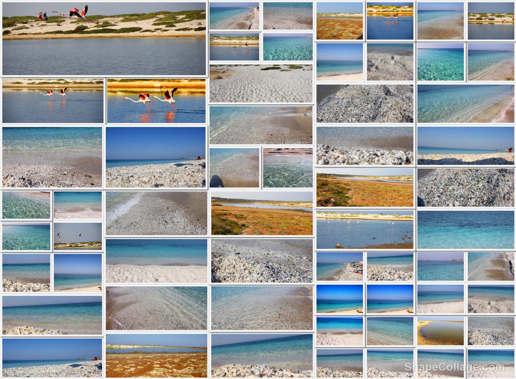 composizione foto spiaggia mari ermi cabras