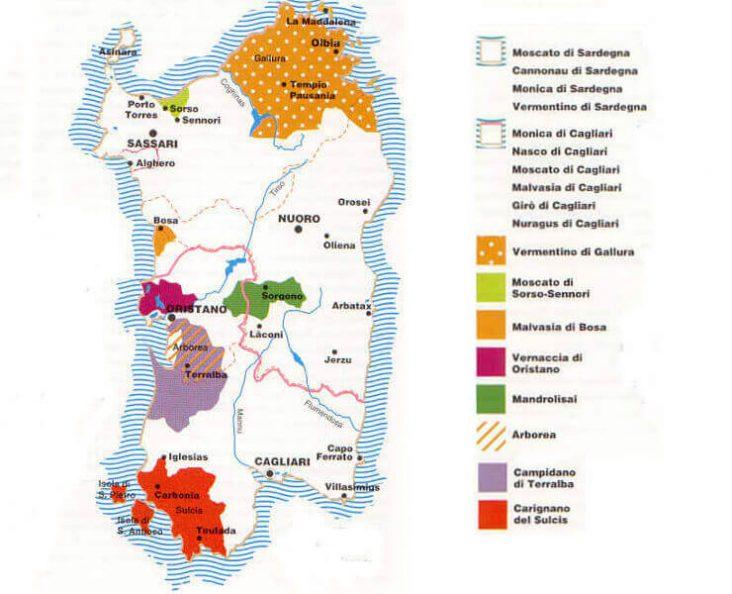 zonazione vitigni in sardegna