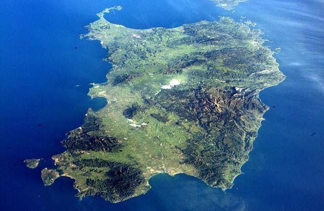 sardegna vista dallo spazio - regione sardegna - sardegna link vacanze